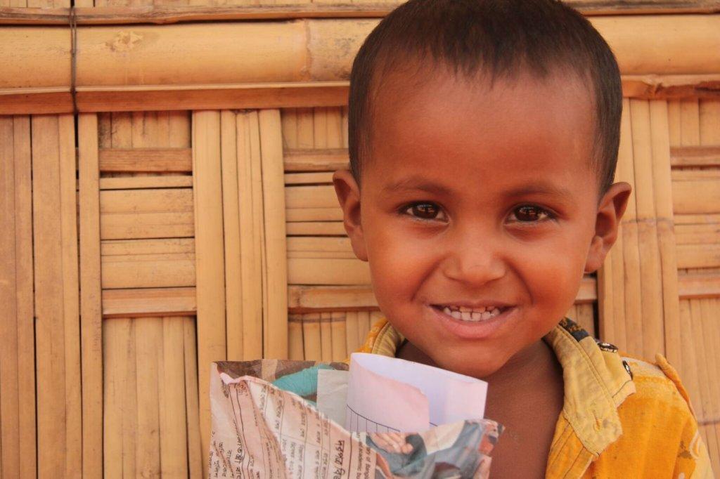 Precious smile of a Rohingya child