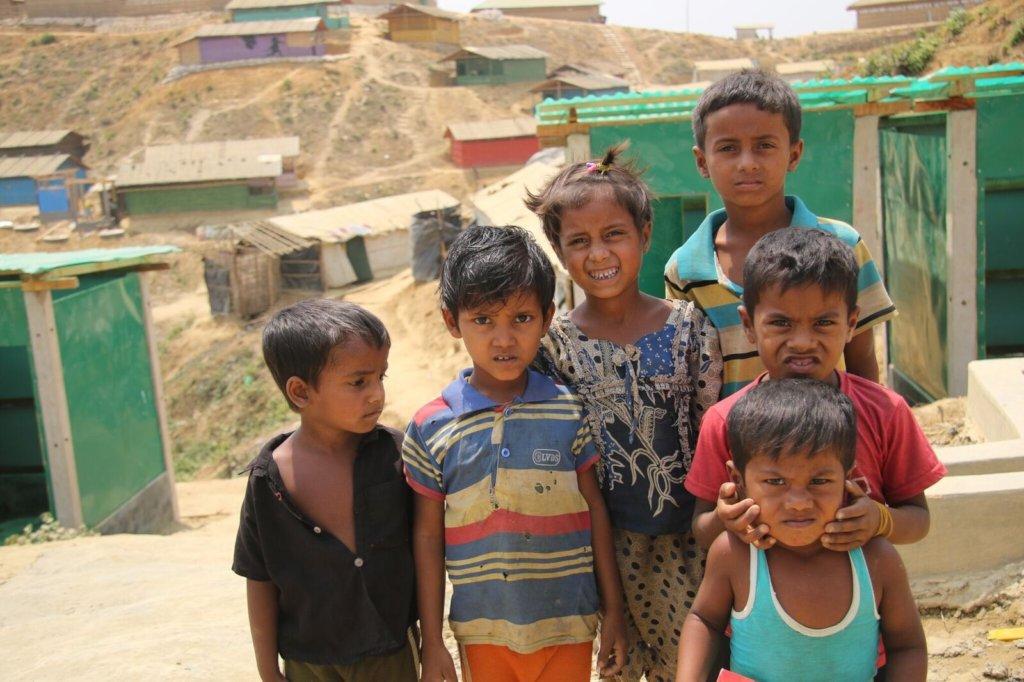 A group of Rohingya children
