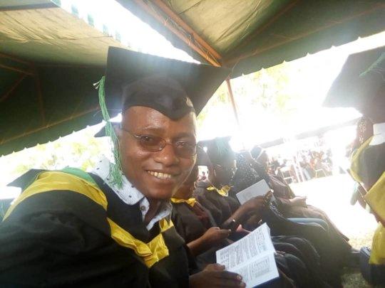 Lazaro at his graduation