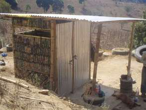 Latrine made from recycled materials