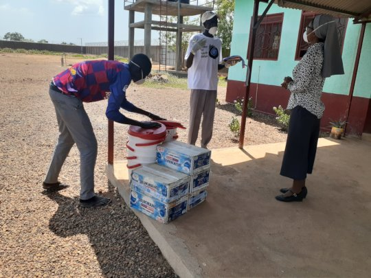 Delivering Hygiene Supplies to MMM Hospital
