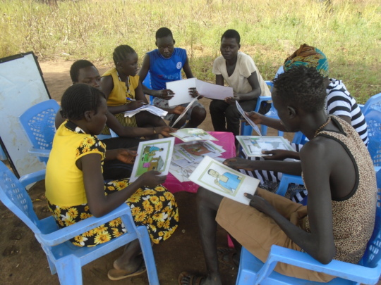 Hygiene education training session