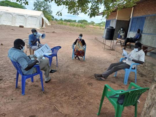 Staff at Akorok PHCC receive training