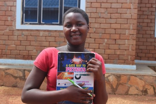Young lady with her text books