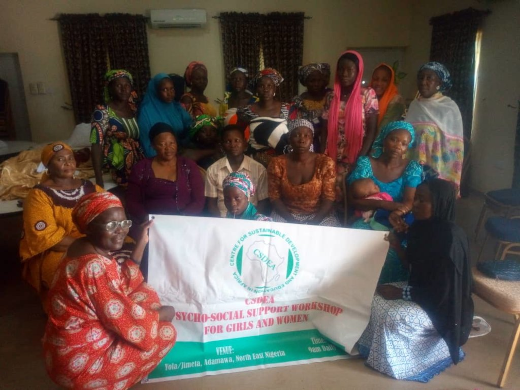 Recipients and Project Adviser, Mrs Arziki Sawa