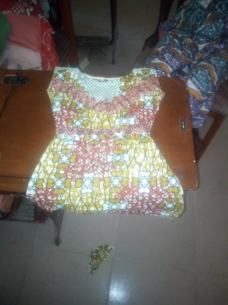 Finished blouse by one of the trainees