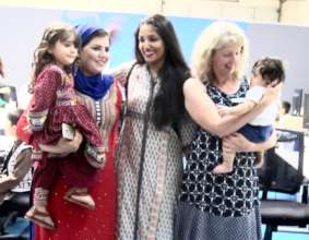 PRERNA with Refugee Family