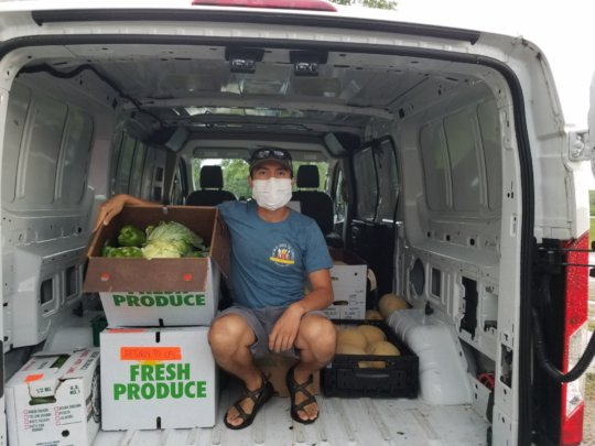 Our wonderful Veggie Van Coordinator, Ivan!