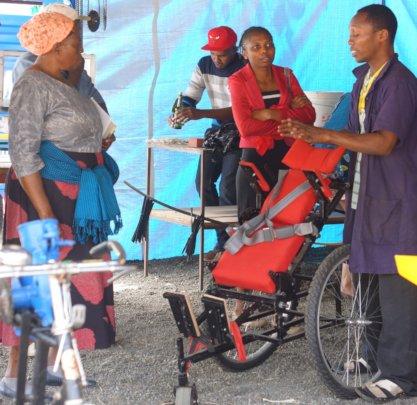 Kyaro Wheelchair at the MakerSoko exhibition