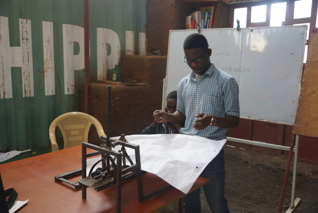 Team paper-bag maker prototype presentation