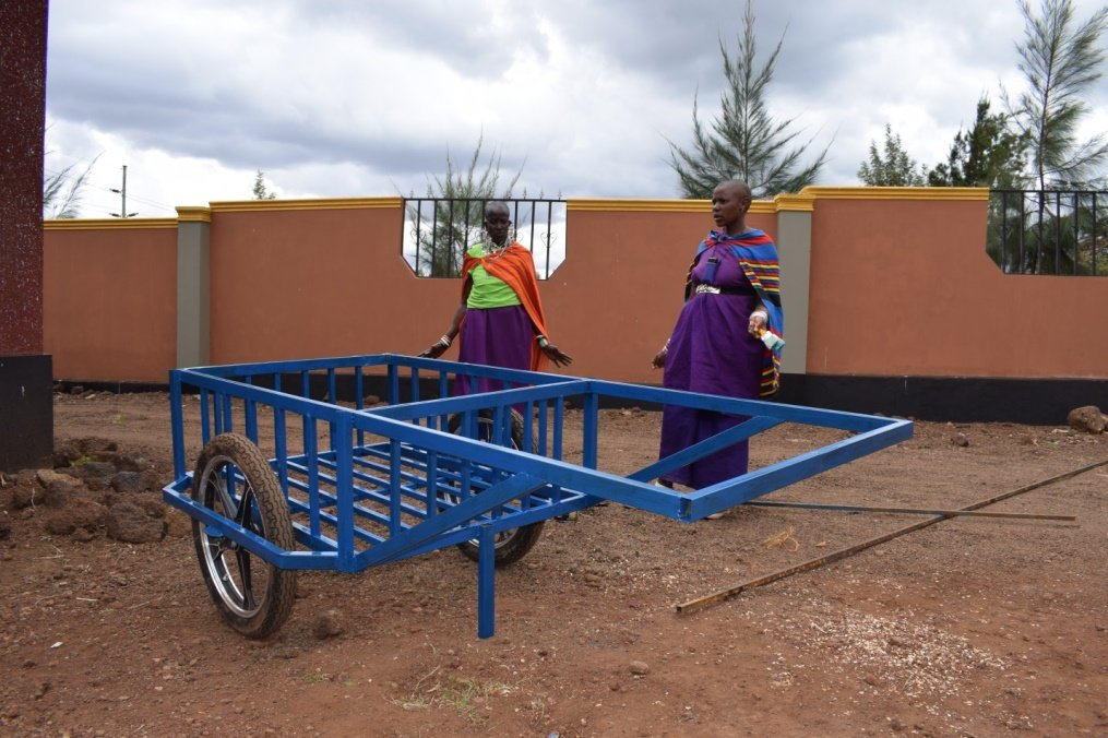 West Kilimanjaro simple cart that fetches water
