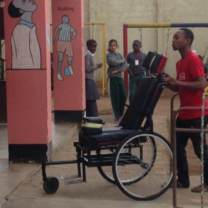 Wheelchair taken for testing at the community