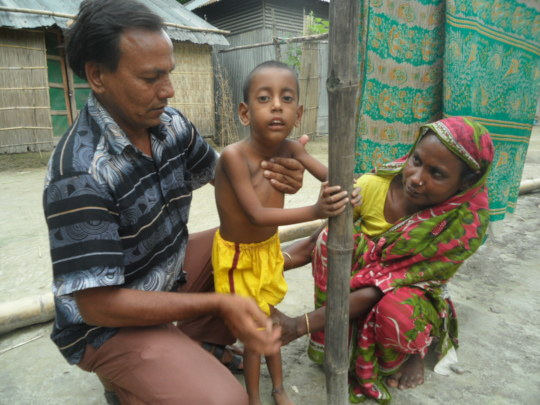 Sakib is Cerebral palsy child need support