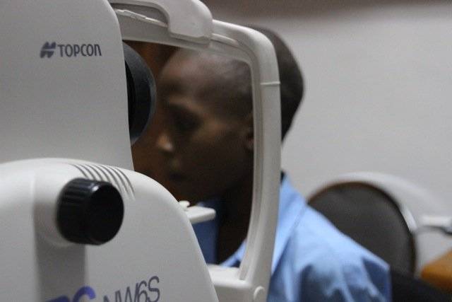 Frenel during his eye tests