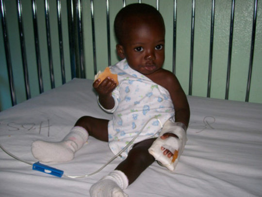 Christopher during one of many hospitalizations