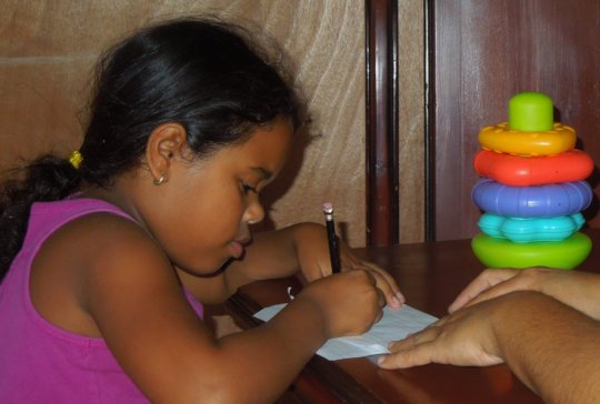 Jailyn learning how to write