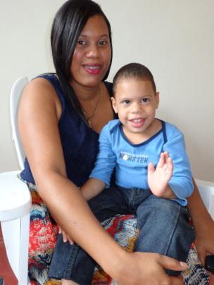 Mayelin and her son Malfi