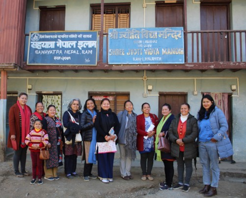 ED of Tewa,Urmila with the team of Sahayatra Nepal