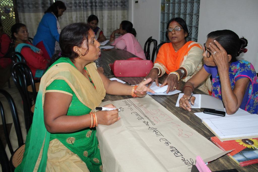 Members of Mahila Adhikar Manch during a training