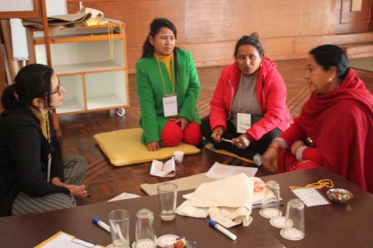 Participants during volunteers training