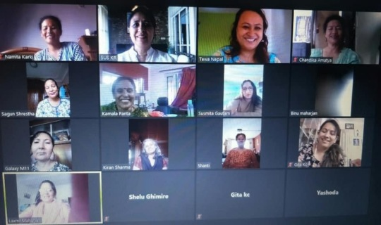 Ongoing skill sharing session in zoom
