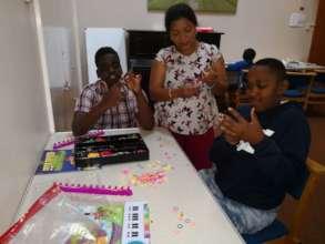 During creative social activities