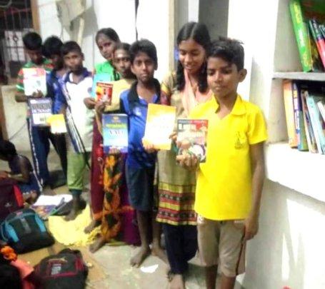 Vikas' Coaching Class friends with books borrowed