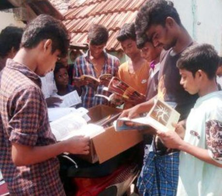 Mobile Library for slum children in Trichy, India