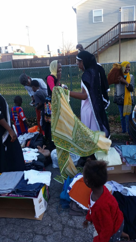 Winter clothes, guides to US for Darfur refugees
