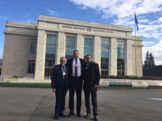 @UN w/SWC's Shimon Samuels & HR's Marc Figueiredo
