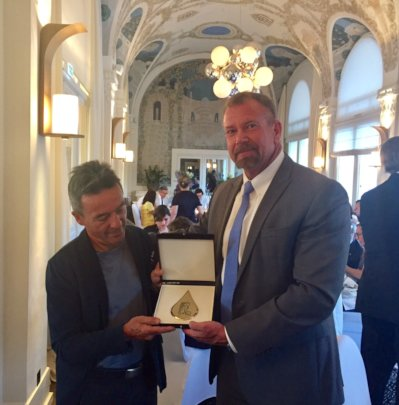 Evian Gold Key and Distinguished Citizen Award