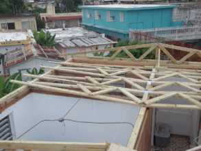 Hector's Roof Under Construction