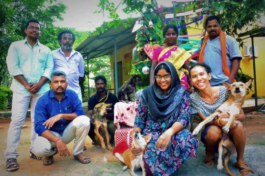 Staff Members with Rescue Animals