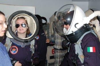 Zoe Townsend at  Mars Simulation Camp, Utah desert
