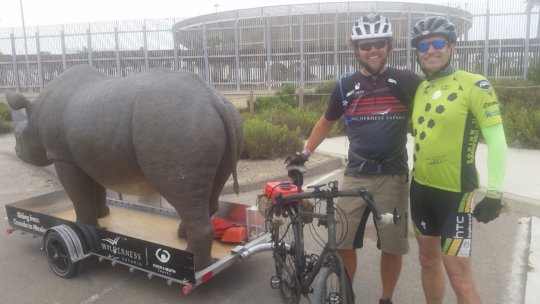 Dr. James and Matt with Rhino Model for cycling