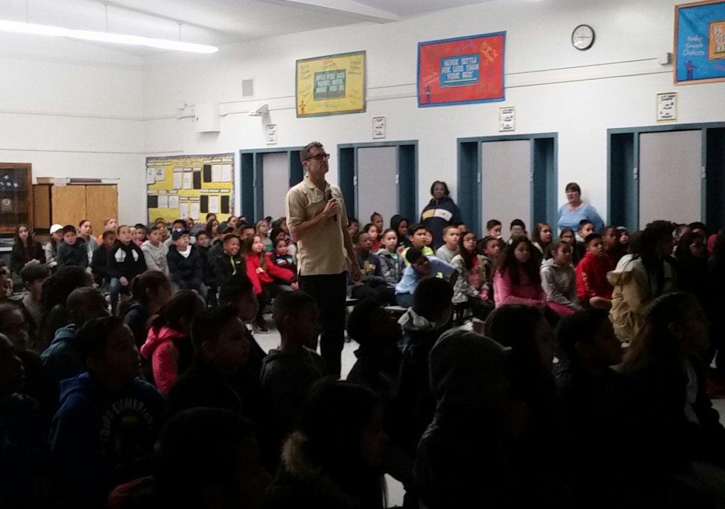 Rhinocation at a primary school east of LA!