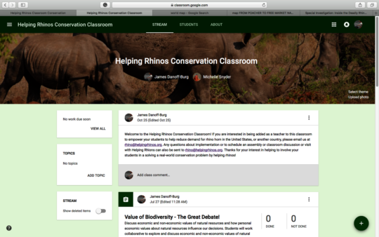 Reducing Demand for Rhino Horn - Curriculum page