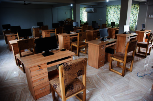 Computer lab at Challenging Heights, Ghana