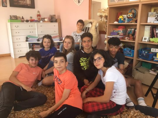 The children and teenagers at Casa Mea