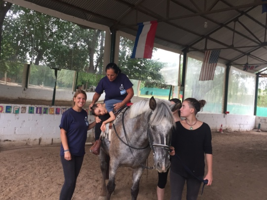 Changing position on the horse
