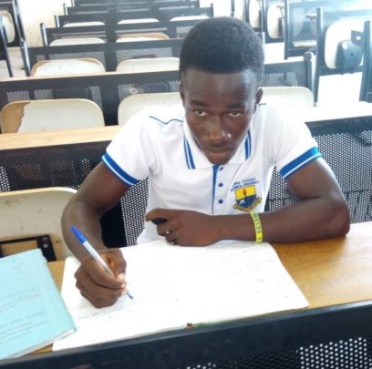 Isaac, a student in Ghana