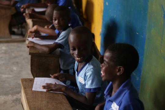 Children in class at Meyah