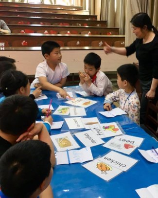 A class run by Stepping Stones, China