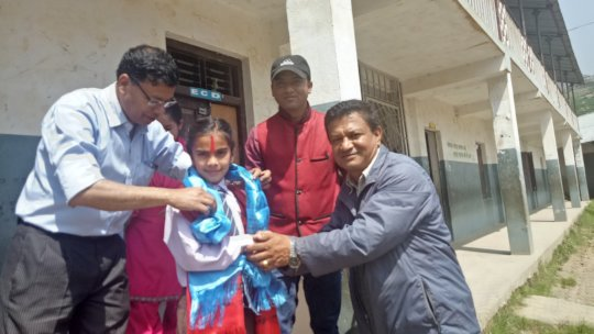 Kushadevi girl wins a scholarship at Rato Bangla!