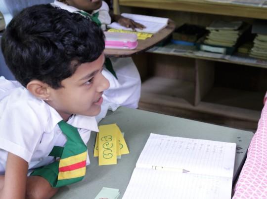 Dinushi in class