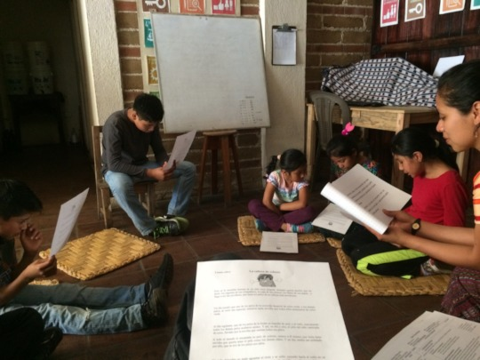 """Our younger students read """"A Head Full of Colors"""""""