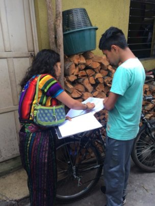 Tutoring session in Santiago Atitlan