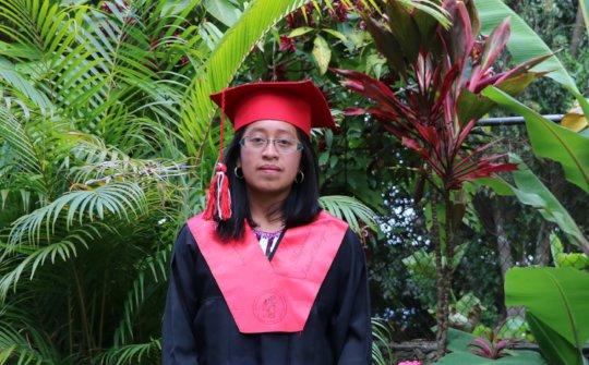 Maria at her graduation