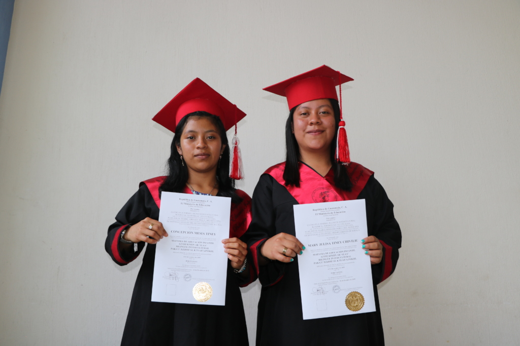 Julissa and Concepcion with their diplomas