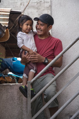Salvador and his youngest daughter Damaris 2015